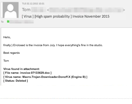 The malware in the attachment to this email was detected by G DATA and deleted.